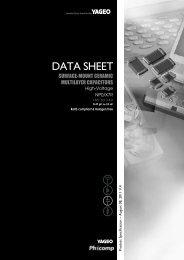 DATA SHEET - Yageo