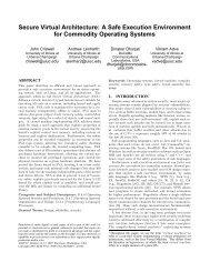 Secure Virtual Architecture: A Safe Execution ... - SOSP 2007