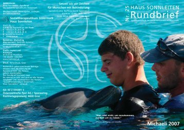 Rundbrief 25 Michaeli 2007 - Sozialtherapeutikum Steiermark