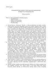 Emilia Cygora WYKORZYSTANIE WIEDZY Z PSYCHOLOGII ...