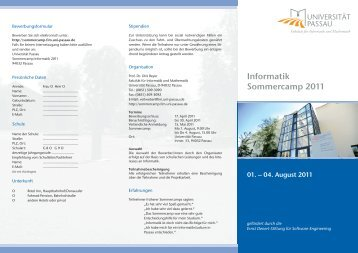 Flyer - Software Systems Lab