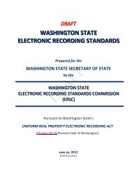 WASHINGTON STATE ELECTRONIC RECORDING STANDARDS ...
