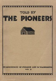 Told by the Pioneers - Washington Secretary of State
