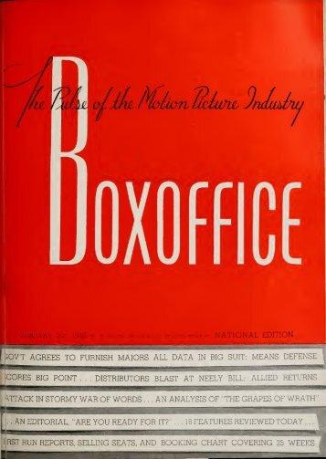 Boxoffice - Jan. 27, 1940
