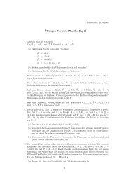 ¨Ubungen Vorkurs Physik, Tag 2