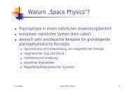 "Warum ""Space Physics""?"