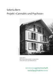 Soteria Bern Projekt «Cannabis und Psychose»