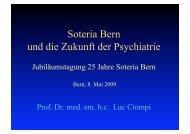 Prof. Dr. med. em. h.c. Luc Ciompi Soteria Bern und die Zukunft der ...