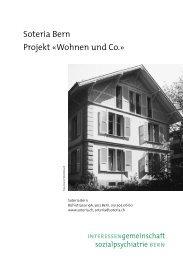 Soteria Bern Projekt «Wohnen und Co.»