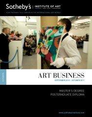 Download Art Business programme flyer. - Sotheby's Institute of Art