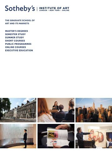 Summer Study - Sotheby's Institute of Art