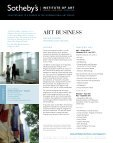 ART BUSINESS - Sotheby's Institute of Art - Page 2