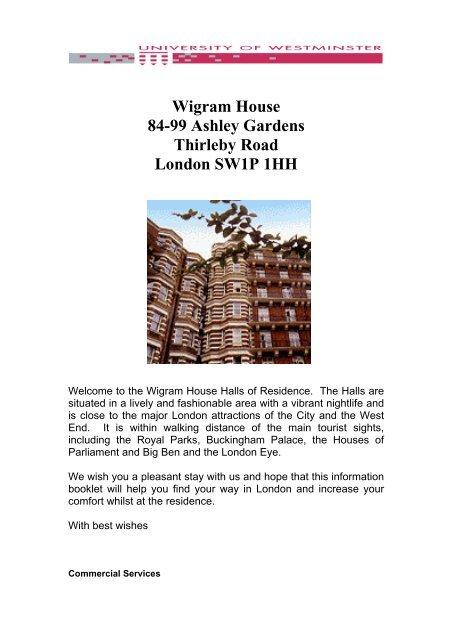Wigram House 84 99 Ashley Gardens Thirleby Road London SW1P