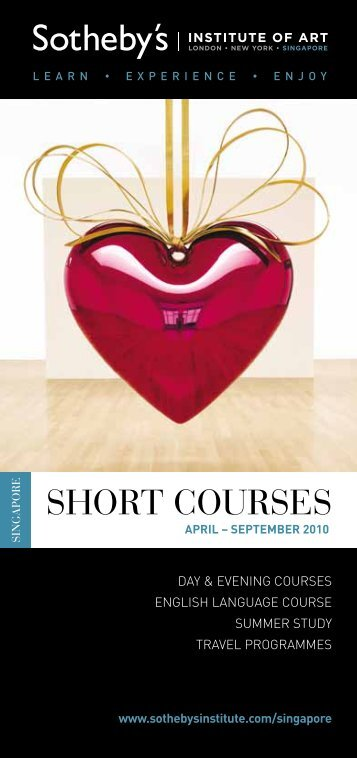 SHORT COURSES - Sotheby's Institute of Art
