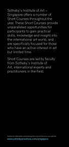 SHORT COURSES - Sotheby's Institute of Art - Page 2