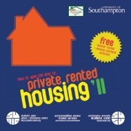 Private Rented Housing Guide - University of Southampton