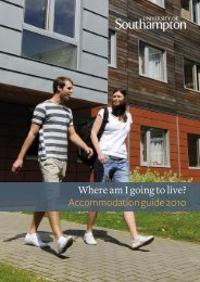 Where am I going to live? Accommodation guide 2010 - University of ...