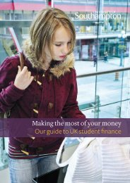 Making the most of your money Our guide to UK student finance