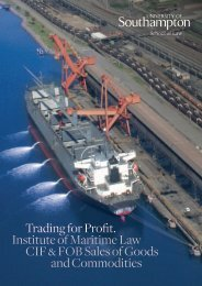 Institute of Maritime Law CIF & FOB Sales of Goods and Commodities