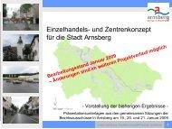 Einzelhandels- und Zentrenkonzept für die Stadt Arnsberg