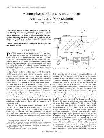 Atmospheric Plasma Actuators for Aeroacoustic ... - IEEE Xplore