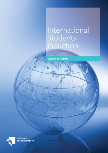 International Students' Induction - University of Southampton