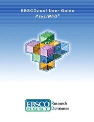 EBSCOhost User Guide PsycINFO