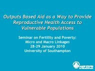 Outputs Based Aid as a Way to Provide - University of Southampton