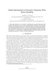 Global Optimization of Deceptive Functions With Sparse Sampling