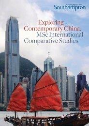Exploring Contemporary China. MSc International Comparative ...