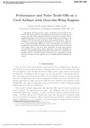 Performance and Noise Trade-Offs on a Civil Airliner with Over-the ...