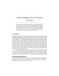 Analyzing Unambiguous Narrow Focus in Catalan* - University of ...