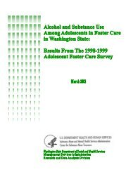 Results From the 1998-1999 Adolescent Foster Care Survey