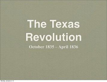 Texas Revolution Pt 1.pdf - SchoolRack