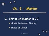I. States of Matter - SchoolRack