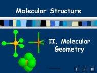 C. Common Molecular Shapes - SchoolRack
