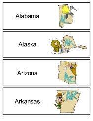 Alabama Alaska Arizona Arkansas - SchoolRack