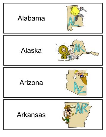 Alabama Alaska Arizona Arkansas - SchoolRack