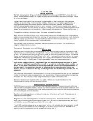 CLASS POLICIES General Guidelines *Come to class ... - SchoolRack