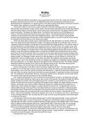Araby by James Joyce - SchoolRack