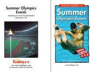Summer Olympics Events - SchoolRack