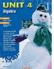 Chapter 8: Algebra: Integers - SchoolRack