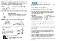 Non-acute low back pain - Croydon Health Services NHS Trust