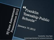 Presented by - Franklin Board of Education