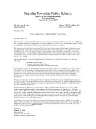 HQT Letter - 2012 DRAFT 4 - Franklin Board of Education