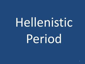 Hellenistic Period PDF