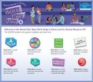 Welcome to the Words Their Way: Word Study in Action, Level A ...