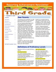Reporting Achievement Newsletter - Franklin Board of Education