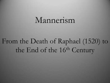 Mannerism PDF