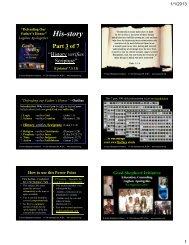 3. History verifies Scripture - Good Shepherd Initiative